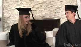 Allie James Celebrates Graduation With Creampie Gang Fuck